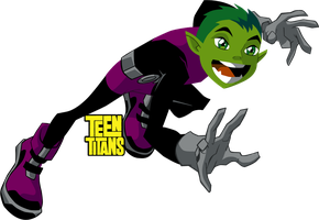 Teen titans Beast boy by TRUE-R1KKU