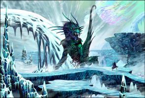 ICE QUEEN_digital painting by m1llgato5