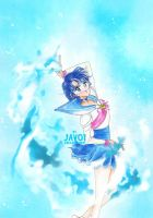 Ami Mizuno sailor mercury - power of mercury by zelldinchit