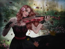 The Red Violin by EstherPuche-Art
