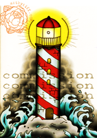 Commission - Lighthouse by tifftoxic
