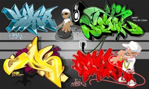 Hip Hop Collab TFK 2008 by SikWidInk