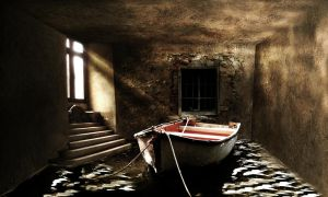 Boat in room by eymur