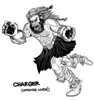 BARBARIANS CHARGER Character Design by PaulSizer