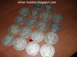 Barber Head Half Dollars by Miss-Merlina