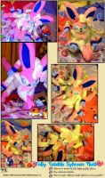 Sylveon Inspired Plush! Shiny Now Available! by KeybladeFoxsquirrel