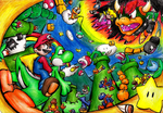 Super Mario world by Foxeaf