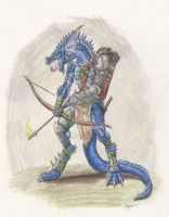 Lizardman archer by RuslanHuadonov