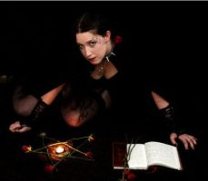 Book, Candle and Pentagram by liveuntamed