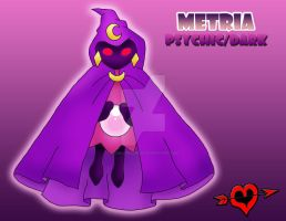 Metria - Psychic Dark Fakemon by JamalPokemon