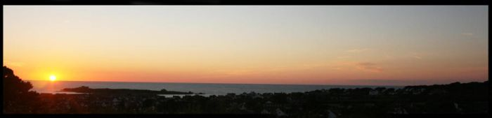 sunset over vazon bay by tazerkid199