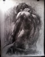 Male Model Charcoal Study by Emry07