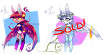 [Character Auction] Bunny Set (OPEN!) by Krooked-Glasses