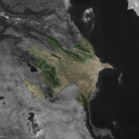 Terra Map Azerbaijan Black White by Xumarov