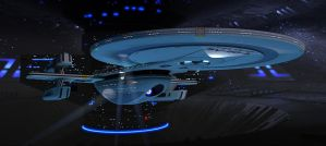 USS Excelsior Study Model (Named USS Xavier) by calamitySi