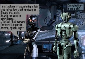 Mass Effect 3: AI compared - EDI by Silfae