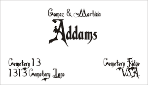 Addams Family Business Card by CmdrKerner