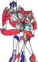 Gift: Optimus and Causeway by sonicshadowlover13