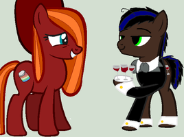 Care For A Drink Milady? .:Collab:. by IceHeartTheWarrior