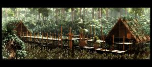 The flooded forest by barrymdesigns