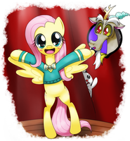 singing fluttershy :D by hoyeechun