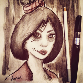 Horror Style Mulan by Findiel