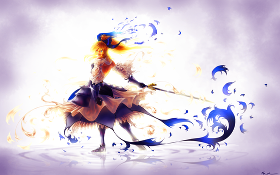 Saber Lily by Draconli