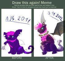 Now and then meme by xSpickeyx