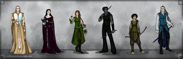 Elf Folks of Euboa by wolfanita