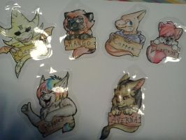 Badges!!! -FOR SALE- by Lightnymfa