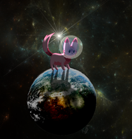 Awesome Space Kitten by Story-Story