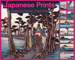 Japanese Prints Pack Five by city17