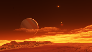 Exomoon of binary red dwarfs #7 by nirklars