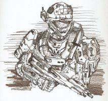 Halo Reach Sketch by CoffeeExorcist