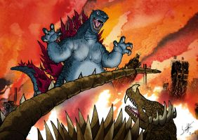 Godzilla Raids Again by SantillanStudio