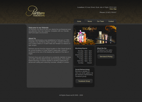 Website: Partners Hairdressing by digitalsoft