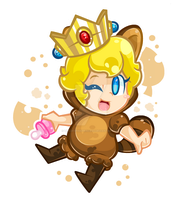 .:Baby Tanooki Peach:. by CloTheMarioLover