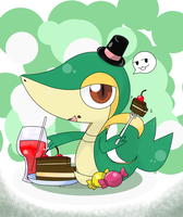 snivy ICE tea time by hoyeechun