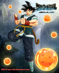 GOKU From DragonBall Absalon by ruga-rell