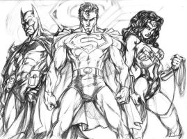 DC TRINITY SKETCH by CdubbArt