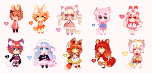 BBPP chibi batch [Closed] by Maruuki