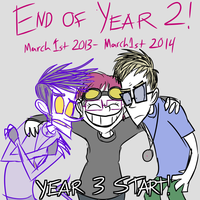 END OF YEAR 2 by Catmaniac8x
