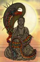 Protector of Buddha color by Airegon