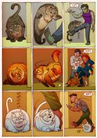 Cat trouble by Katerinich