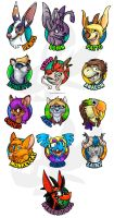 AC2012 Badges by weremagnus