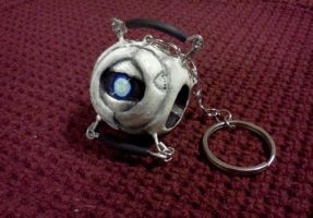 Portal 2 Keychain: Wheatley by ChaosComix