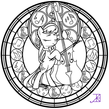 Stained Glass: Octavia -line art- by Akili-Amethyst