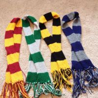 Harry Potter Inspired House Scarves by LishaChan