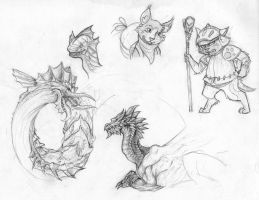 More Monster Hunter Doodles by sessju