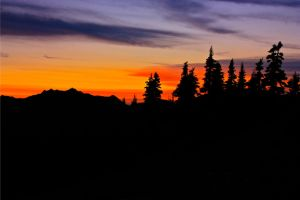 Sunset Silhouette of Cascades by Sp3nc3r-H1nds